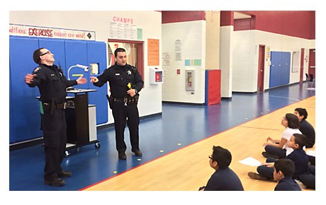 Northlake Officers participate in Career Day At Whitter School